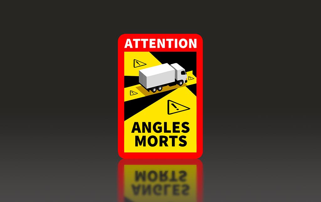 La etiqueta 'Ángulos Muertos' para camiones, obligatoria para circular por Francia