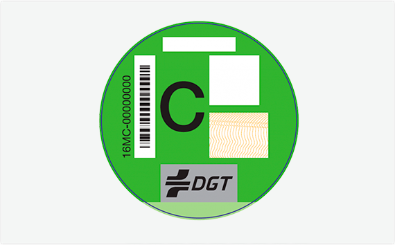 Distintivo Ambiental – Etiqueta C, Motocicletas