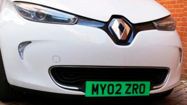 Matrículas verdes para coches Zero – emissions en el Reino Unido